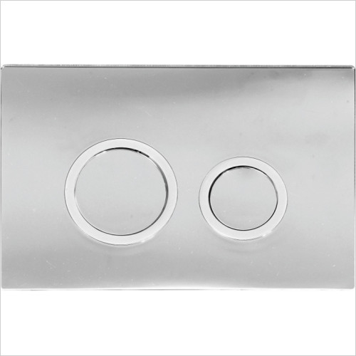 Scudo Bathrooms - Slimline ABS Push Button Plate Round Style