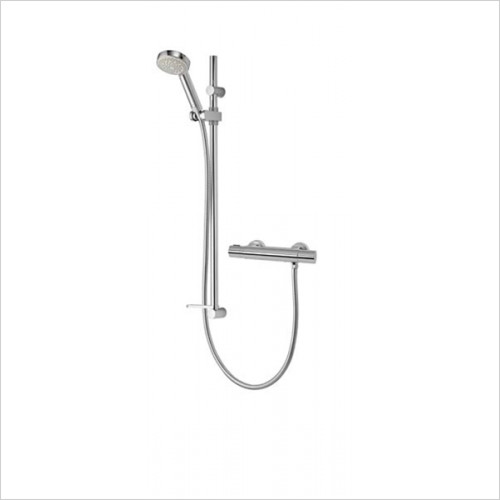 Aqualisa - Midas 110 Thermostatic Bar Valve With Slide Rail Kit
