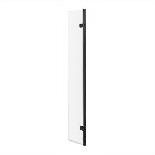 Hudson reed - 300x1950mm Hinged Screen Black Profile