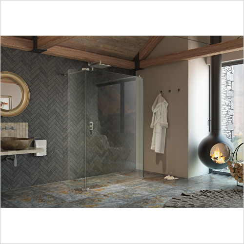 Kudos - Ultimate2 Wetroom Kits Fixed (255mm) For 10mm Straight Glass