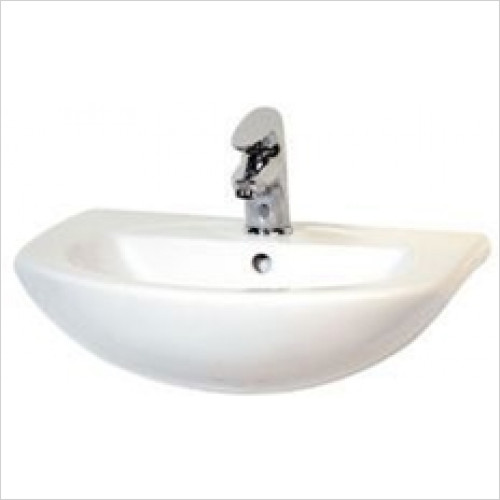 Eastbrook - Type 550mm Semi-Recessed Basin 1TH