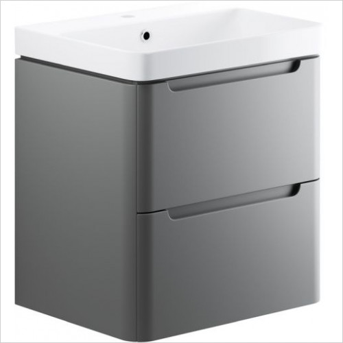 Moods - Lambra 600mm 2 Drawer Wall Hung Unit & Basin