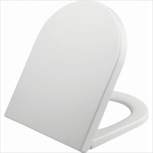 Scudo Bathrooms - Space Short D Shape Soft Close WC Seat