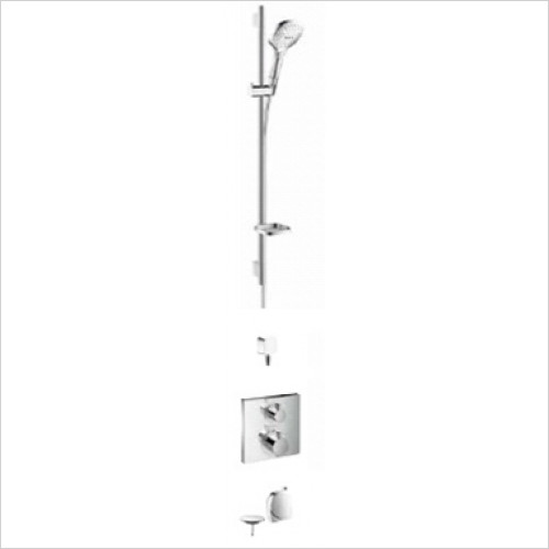 Hansgrohe - Bathrooms - Square Valve with Raindance Select Rail Kit & Exafill