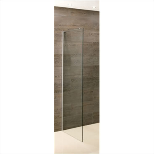 Eastbrook - Valliant Side Walk-In 1000 x 1950mm With Support Bar 8mm