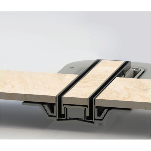 Impey - Tiled Insert Linear Top - 400 Drain Horizontal -Upgrade Only