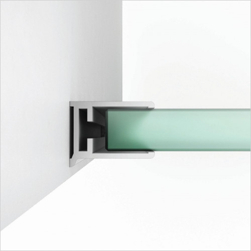 Scudo Bathrooms - i10 Single Wetroom Panel Minimalist Wall Channel