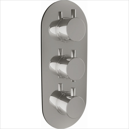 Scudo Bathrooms - Triple Oval Concealed Valve with Diverter - Plate