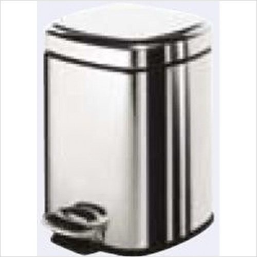 Bathroom Origins - Gedy Square Pedal Bin 3 Litre Soft Close