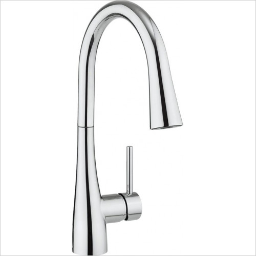 Crosswater - Bathrooms - Cook Kitchen Mixer With Concealed Dual Function Spray