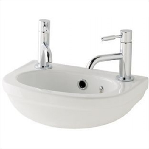 Eastbrook - Dura Cloakroom Basin 450mm 2TH Including Fittings