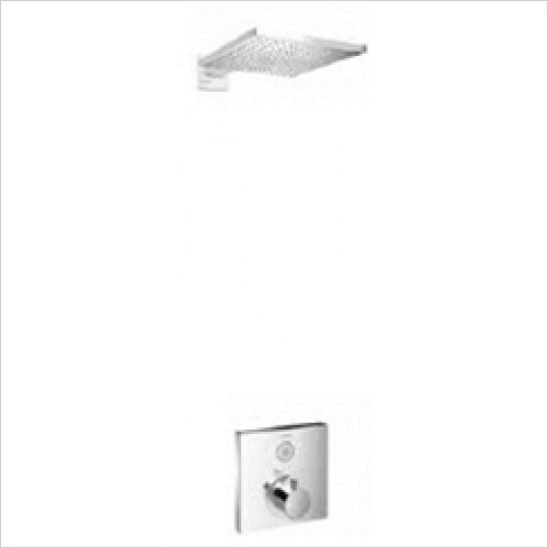 Hansgrohe - Bathrooms - Square Select Valve with Raindance Overhead