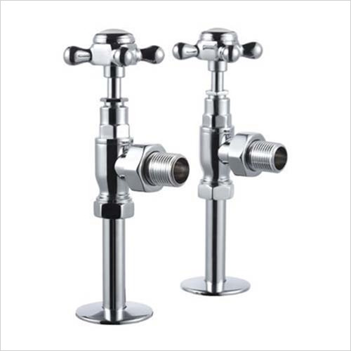 Burlington - Bathrooms - Chrome Angled Radiator Valves With Cross Heads (pair)