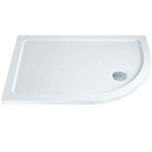 ABS Stone Resin Offset Quadrant Shower Tray 900 x 800mm