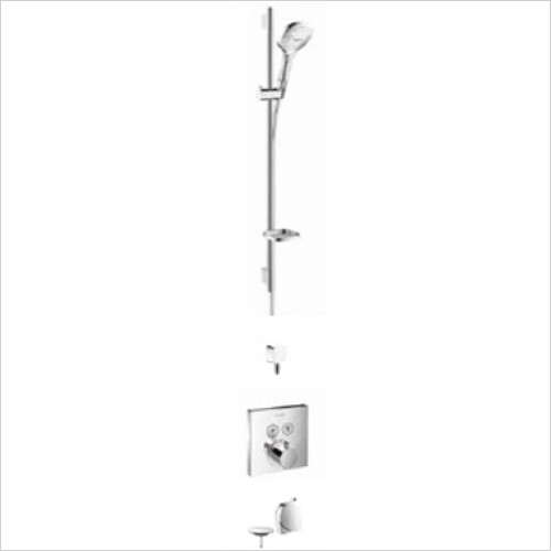 Hansgrohe - Bathrooms - Square Select Valve with Raindance Select Rail Kit & Exafill
