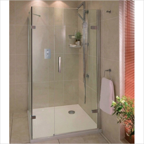 Aqata - Spectra Hinged Door In Line Side Screen 900x800mm RHC
