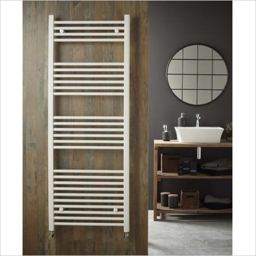 Redroom - Elan Straight Towel Warming Radiator 1200 x 600mm