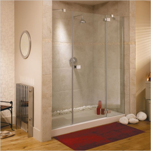 AQS Bathrooms - Online Store - Lakes - Single Door Offset Quadrant