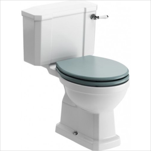 Sherbourne Close Coupled WC & Lucia Sea Green Wood Eff Seat