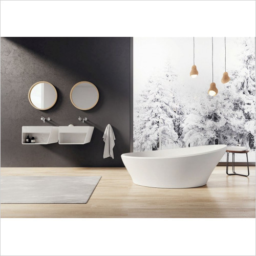 Berio Sculptured Stone Freestanding Bath